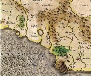 """Latium nunc Campagna di Roma"" - 1595 - Gerhard Mercator (o Mercatore)"