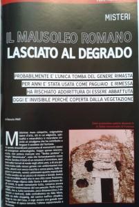 1 Il mausoleo romano lasciato nel degrado