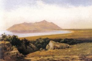 """""""Il Circeo visto da Terracina"""" - 1840 - Jorgen Sonne"""