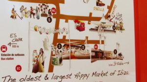 Mappa dell'Hippy Market Ibiza Punta Arabi